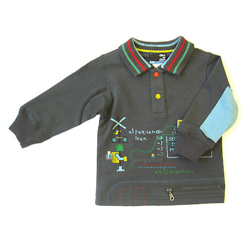 Deux Par Deux *Petit Train* Boys Long Sleeve Polo Top