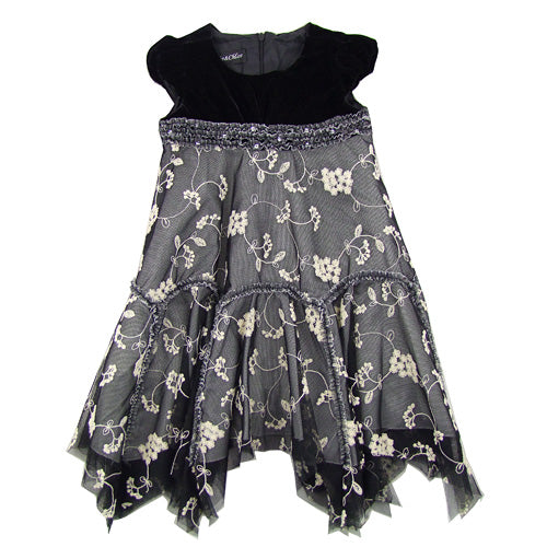 """Lacy 2"" Girls Classic Velvet Holiday Dress."