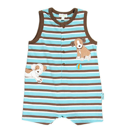 Le Top *Puppy Pals* Boys Sleeveless Romper