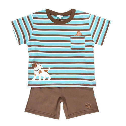 Le Top *Puppy Pals* Boys 2 pc Short Set