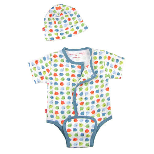 Magnificent Baby *Whale of a Tale* Baby Boy Onesie Set