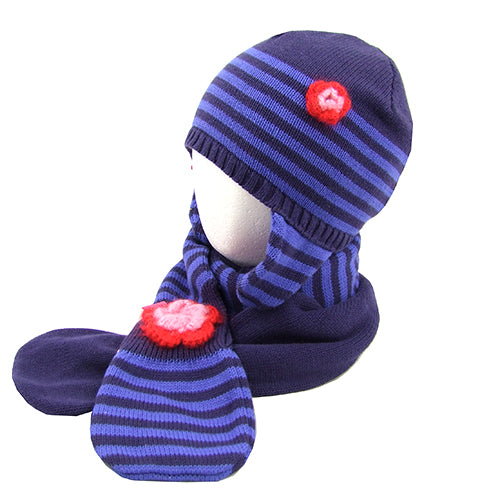 Cakewalk *Janice* Girls 3pc. Hat/Scarf/Gloves Set