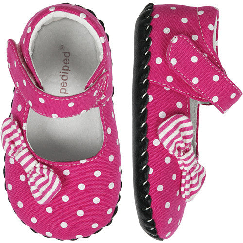 Pediped Grace Fuchsia Dot Infant Shoe