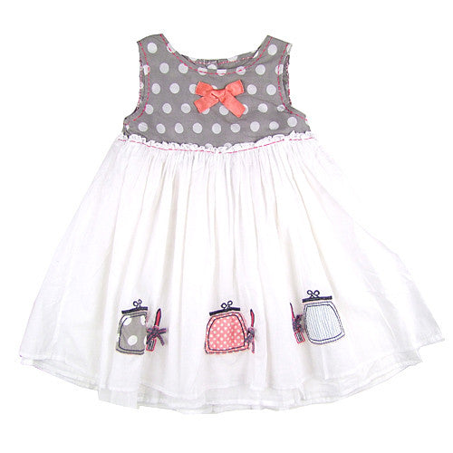 Donilli Girls White Summer Dress