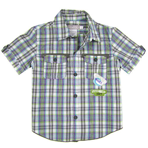 Boboli *Camp* Boys Short Sleeve Shirt