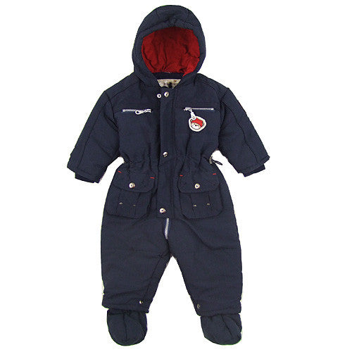 Red Action Baby Boy 1pc Winter Snowsuit