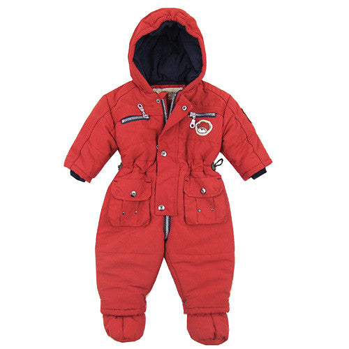 Red Action Baby 1pc Winter Snowsuit