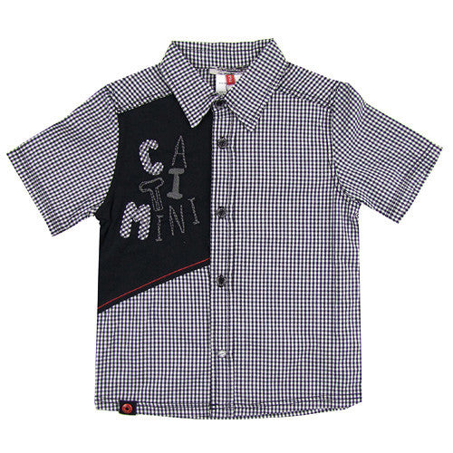 **** 60% OFF ****Catimini *Urban* Boys Button-up S/S Shirt