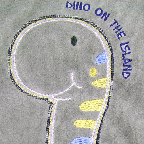 Little Dino Baby Boy Velour Bunting