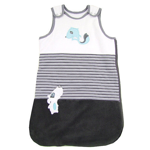 Sweet Puppy Baby Boy Velour Bunting