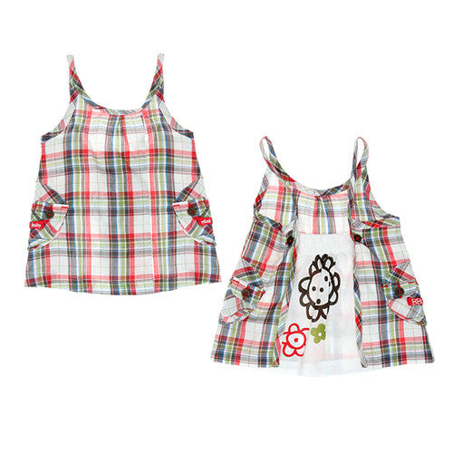 Boboli *Check* Girls 2pc. Summer Dress Set