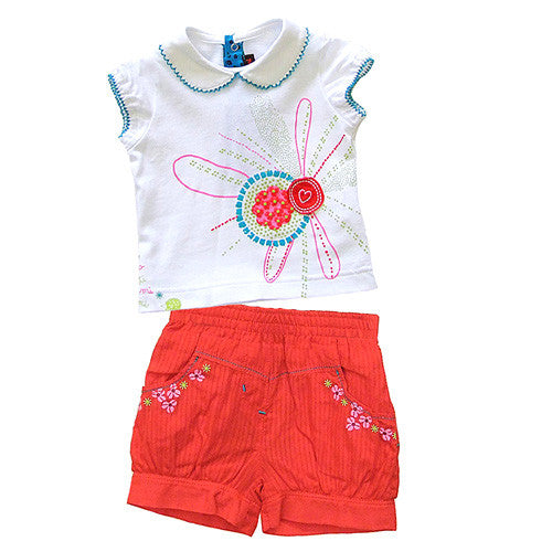 **** 60% OFF ****  Catimini *Spirit Ethnique* Girls 2pc Shorts Set