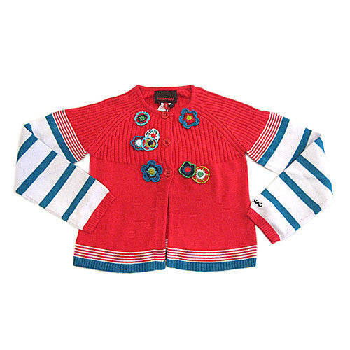 **** 60% OFF ****  Catimini *Spirit Denim* Girls Knitted Cardigan