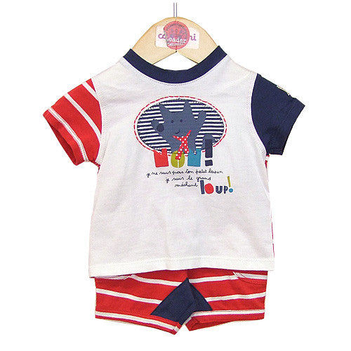 **** 60% OFF ****  Catamini *Labo* Boys Tee and Shorts Set