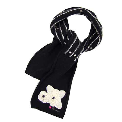 "Catimini ""Fleur"" Girls ( little kids/big kids) Winter Wool Scarf"