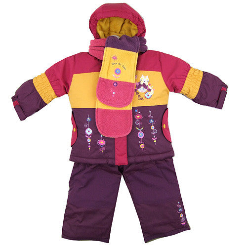 Deux par Deux *Samantha* Girls 4 pc Snowsuit Set