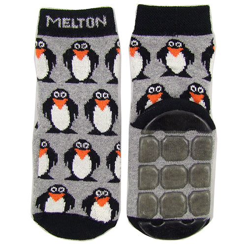 "MELTON ""Penguin"" Boys (toddler/little kids/big kids) Slipper Socks Moccasins"