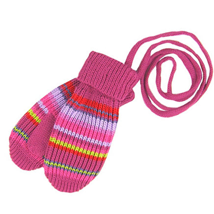 Stylish MP Hempels Girls ( baby/little kids) Winter Mittens with Strings.