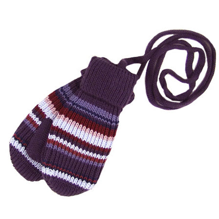 MP Hempels Girls ( baby/little kids) Winter Mittens with Strings