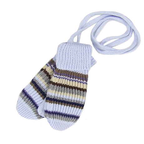 MP Hemples Baby Boy Cotton Winter Mittens with Strings