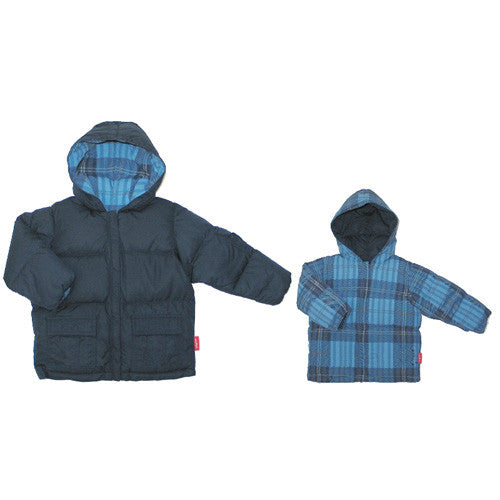 One Kid *Sam* Boys Down Reversible Winter Jacket