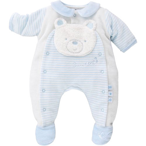 18c9cfc735b Sucre D Orge  Teddy  Baby Boy Velour Overall