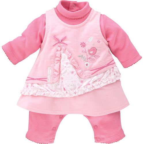 Sucre D'Orge *Nika* Baby Girl Velour Dress Set
