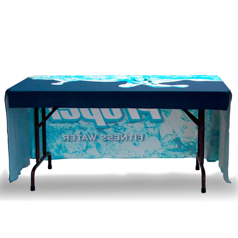 4ft Foxx Standard Table Throw Full Color 3-sided with Dye Sub Print, Table Cover, WSDisplays - ifoxx displays
