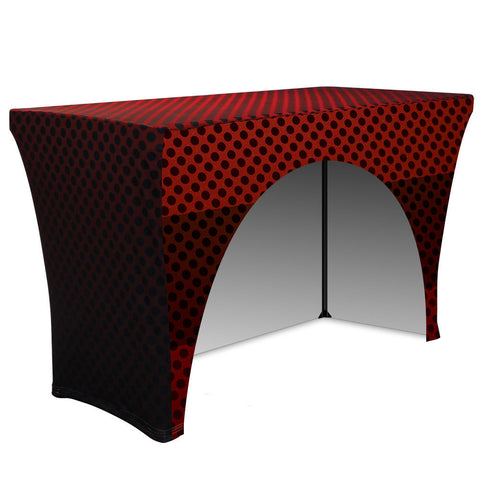 "4' Stretch Table Throw (3 Sided - 30"" Depth), Table Cover, Ivy - ifoxx displays"