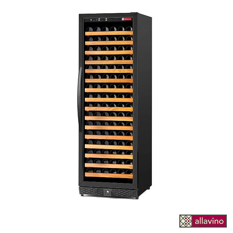 Allavino 170 Bottle Single Zone Black Wine Cellar Refrigerator - MWR-1681-BR-C