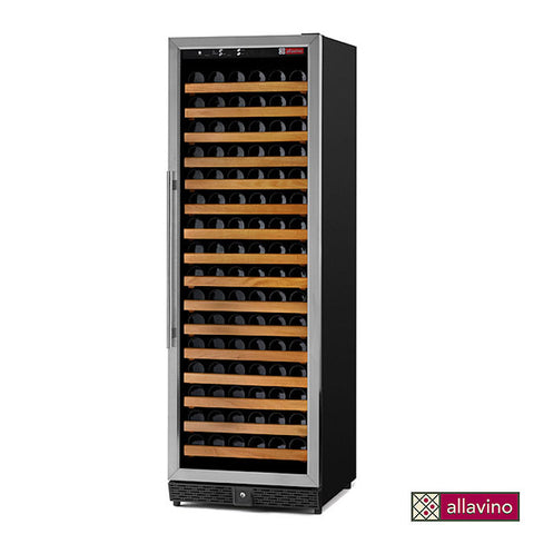 Allavino 170 Bottle Single Zone Stainless Steel Wine Cellar Refrigerator