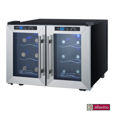 Allavino Cascina Series Thermoelectric 12 Bottle Dual Zone Wine Refrigerator