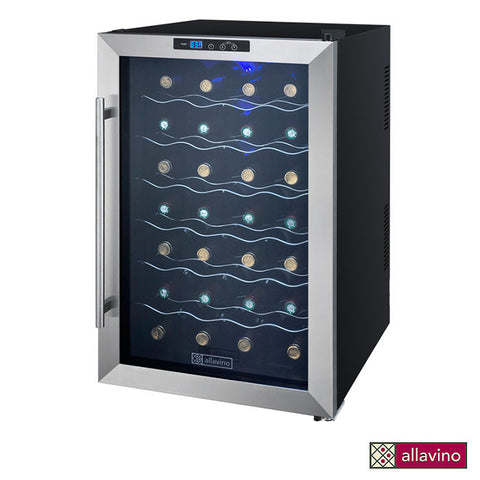 Allavino Cascina Series Thermoelectric 28 Bottle Single Zone Wine Refrigerator