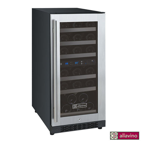 Allavino FlexCount Series 15-Inch 30 Bottle Dual Zone Wine Refrigerator