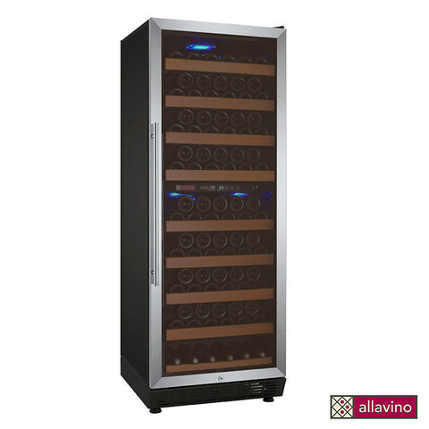 Allavino Vite Series 99 Bottle Dual Zone Stainless Steel Wine Refrigerator