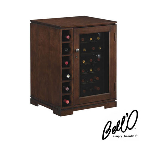 Bell'O Cabernet 24 Bottle Wine Cabinet with Dual Zone Wine Cooler
