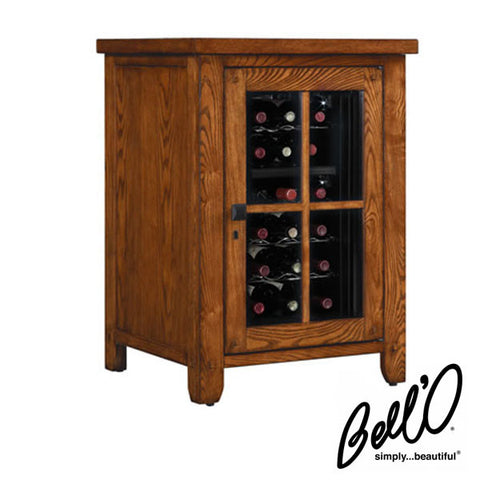 Bell'O Dakota Freestanding 18 Bottle Wine Cabinet with Dual Zone Cooler