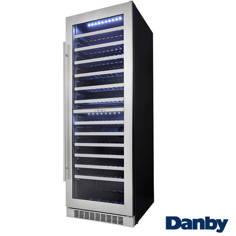 Danby 129-Bottle, Built-In, Dual-Zone Wine Cooler