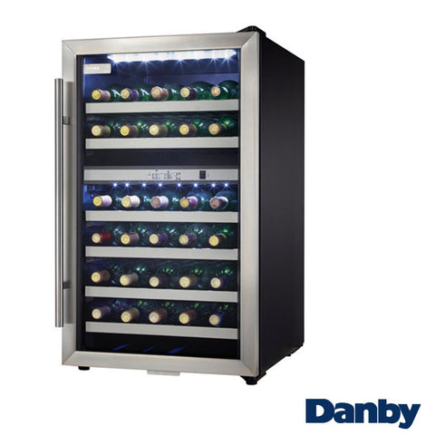Danby 38-Bottle Stainless Steel Wine Cooler