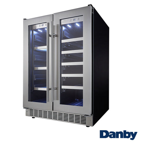 Danby Silhouette Professional Built-In Beverage Center with French Doors