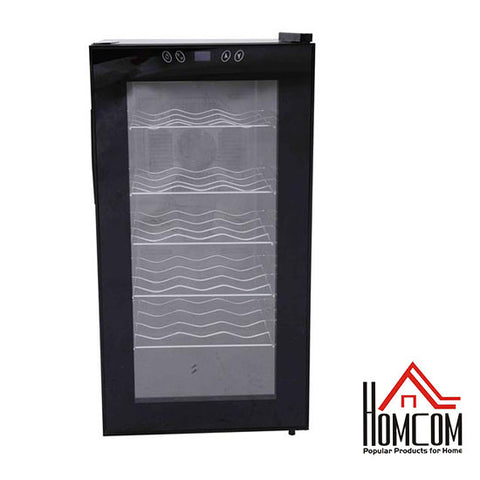 HomCom 18-Bottle Electric Wine Refrigerator