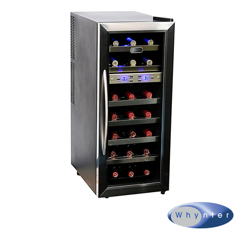 Whynter 21 Bottle Dual Temperature Zone Thermoelectric Wine Cooler