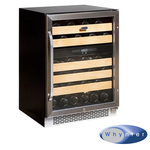 Whynter 46 Bottle Dual Zone Built-In Wine Refrigerator