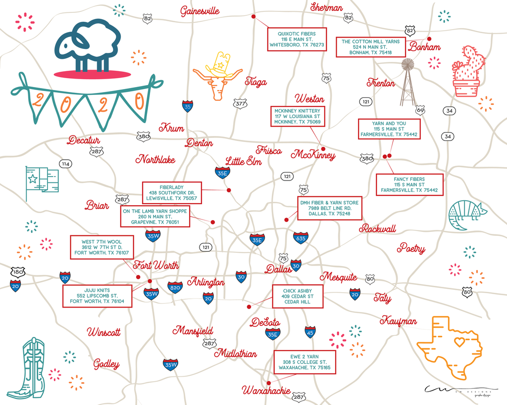 North Texas Yarn Crawl 2020 (Sept 11-20)
