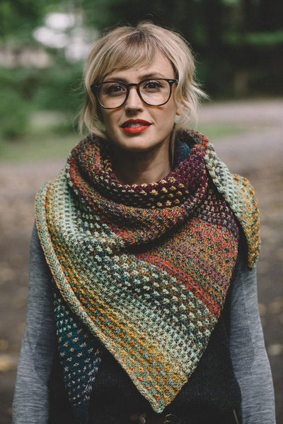Yarn Packs for Andrea Mowry's Nightshift Shawl
