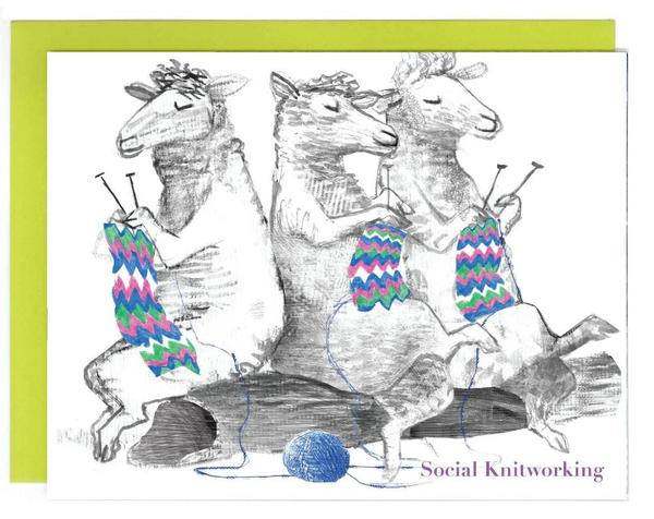 Social Knitworking Card
