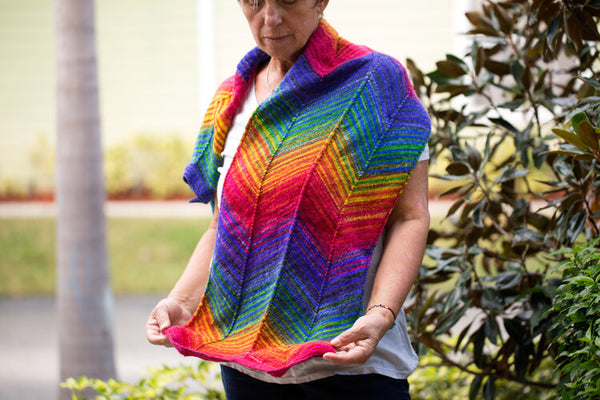 Chevron Scarf Kit - Uneek or Monokrom Fingering Weight