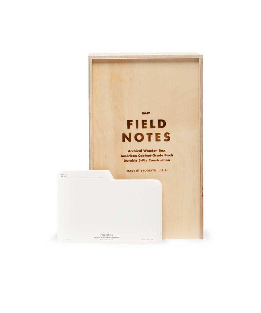 Archival Wooden Box for Field Notebooks