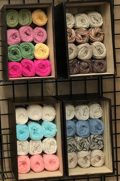 Sugar'n Cream Dishcloth Crayon Box (Knit or Crochet)