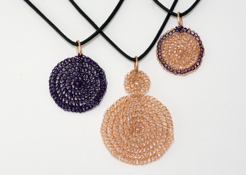 Introduction to Metal Crochet: Circle Dot Pendant - May 5 - 1:00-4:00 PM